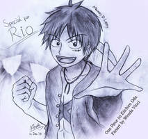 Luffy - Art Trade with Rio by WendaVinci