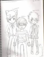 Einshine, Nyanstrike and TheAnimeman by BloodySapphire