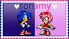 SonAmy Stamp by GothScarlet
