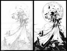 Ozzfest Demon pencils and inks by gomedia
