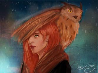 Owl Umbrella by AlliandoAlice