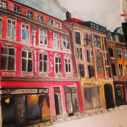 Watercolour building by AlliandoAlice