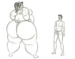 Nicole vs Ben sumo match by FatClubInc