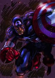 Captian America comic colors by DeonN