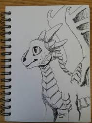 Drago Ink Pen Doodle by ThavaSheildbiter