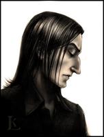Severus Snape - portrait 1 by Glissar