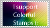 I support Colorful stamps. by miic1