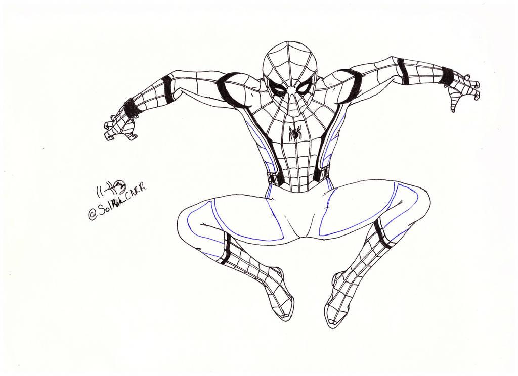 Spiderman Para Colorear Held Bild Idee