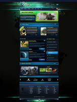 Tesla Gaming Template for SALE by BorisWick