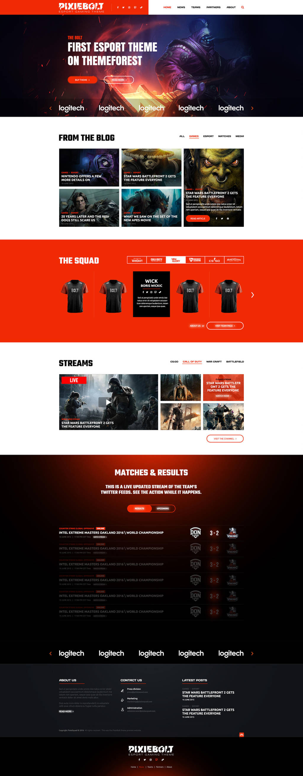 eSports Gaming Theme For Clans and Organizations by BorisWick