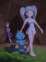 Commission: Love Under the Rain by Agu-Fungus