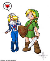 Link and Sheik, by gunmouth by Agu-Fungus