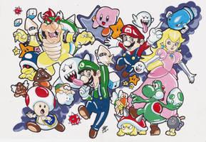 Mario Bross Sketch by specialneeds0468