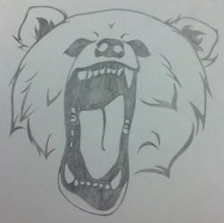 Bear Roar Tattoo by AeiriMuse