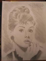 Audrey Hepburn by Karire