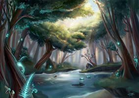 Allunia - The woods of souls by Tiphs