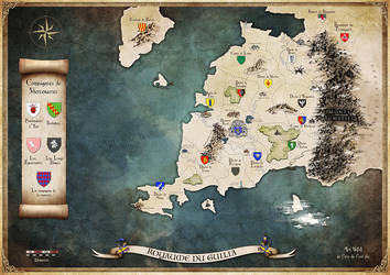 Commission : map of the Guilia realm by Tiphs