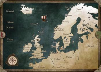 Regional map - Sagas des mers grises by Tiphs