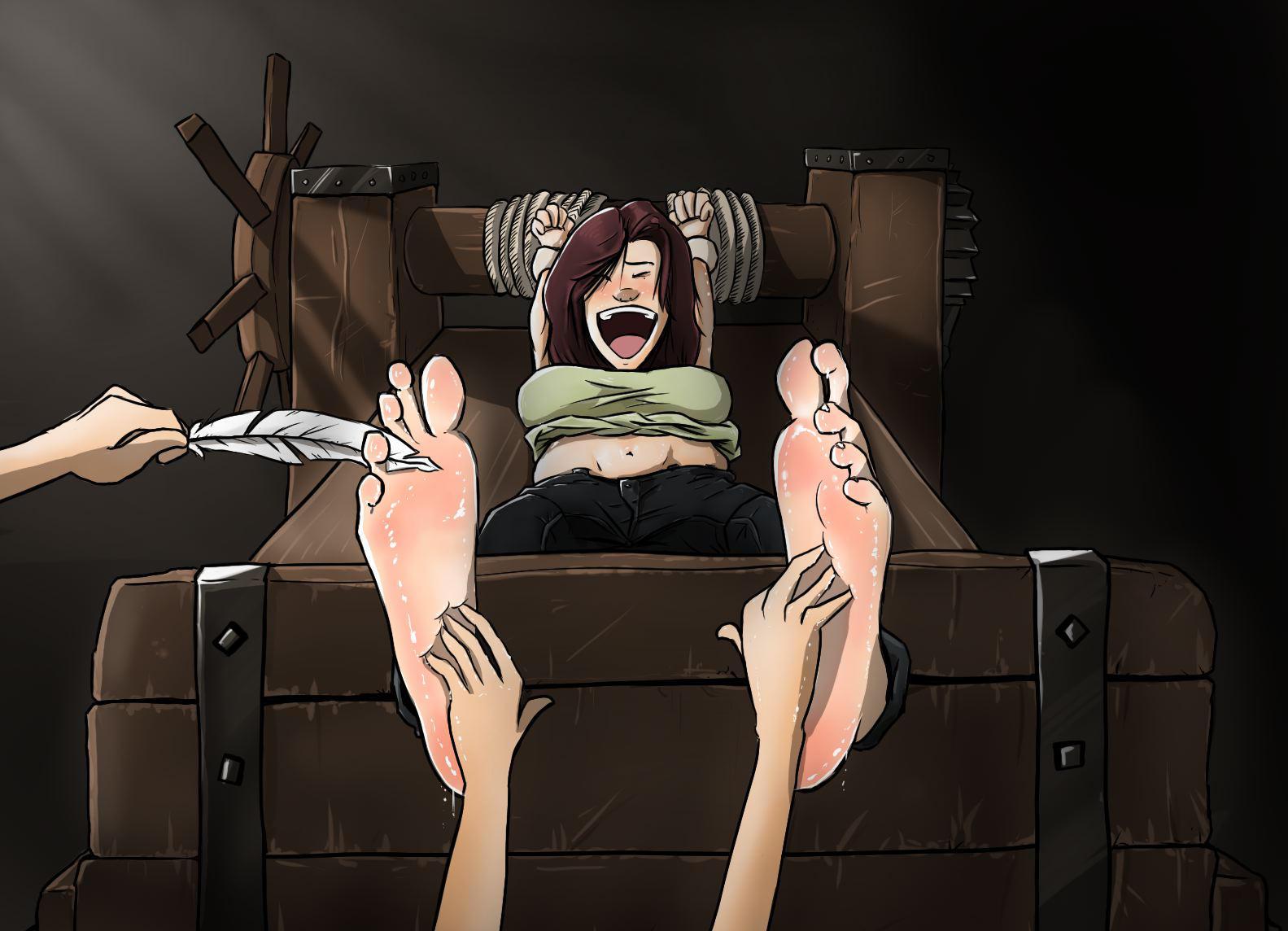 Tickling Hogtied Girls