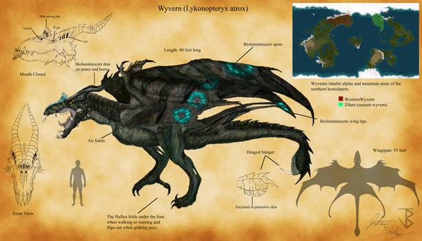 Wyvern (Lykonopteryx atrox) by jbconcepts87