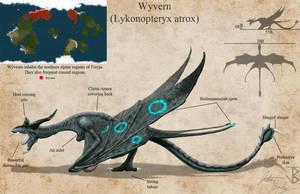 Wyvern (Lykonopteryx atrox) redesign by jbconcepts87