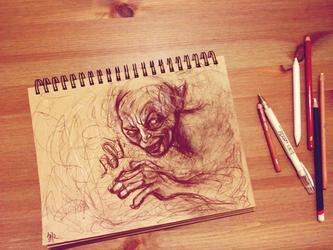 Gollum sketch by V-Cantabile