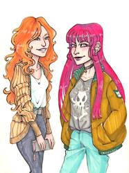 OC Sofia and Lutecia (sketch) by maru-redmore