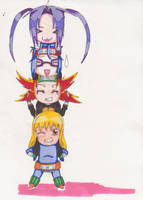 Chibi Tower Tatsuki Family by TheAngelRaine