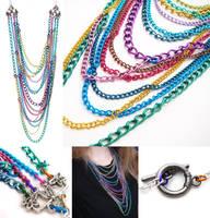 Rainbow Chain Necklace by fairy-cakes
