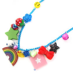 Rainbow Charm Necklace by fairy-cakes