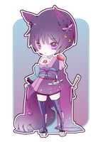 Adopt: Purple Neko [CLOSED] by Kialun
