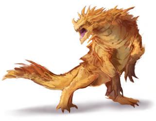 Desert Dragon by SolidTurtle1