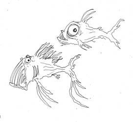 uglyfish sketch by Tusenkunst