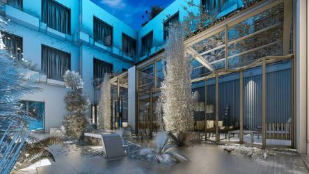 Courtyard...Lumion 8 by zernansuarezdesign