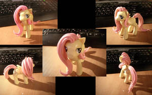 Fluttershy polymer clay by Xapy