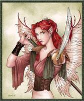 Tamarynn, Fae Warrior by Ai-Dax