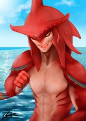 Legend of Zelda Breath of the Wild Prince Sidon by dreNerd