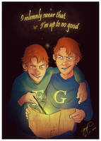 Oh, give it up for Fred and George! by Danger-Jazz