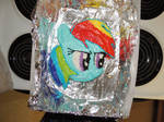 Rainbow Dash cake by Zainx10