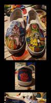Beauty and the Beast Shoes by wenuwishuponastar