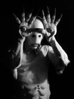 Pale Man black and white by CarnevaleObscura