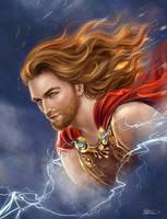 Thunras - god of thunder by Develv