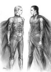 Ozymandias and Loki by Develv