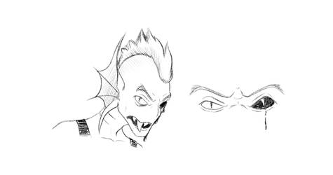 Undyne sketch by punkucats