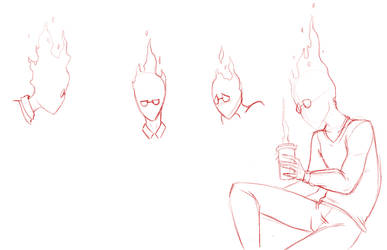 Grillby Sketches by punkucats