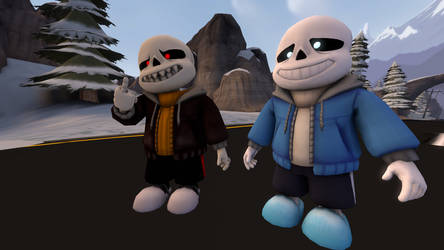 Red and Sans SFM by punkucats