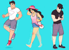 DC Summer Squad by Vimeddiee