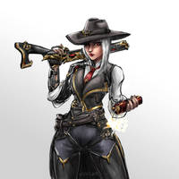 Overwatch - Ashe by lowpixil