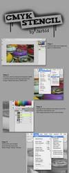 CMYK stencil tutorial by jarbid