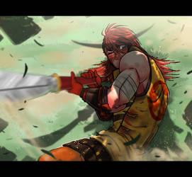 Sengoku Basara OC Drawing Challenge - No. 20 by Orcagirl2001